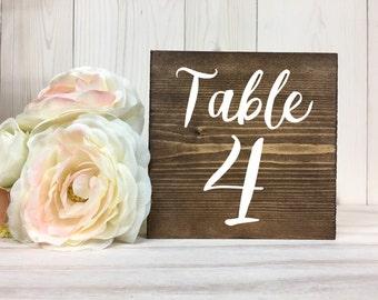 Table Numbers // Wedding Rustic Wedding Table Numbers // Wood Table Numbers // Wedding Decor // Summer Wedding // Block Table Numbers