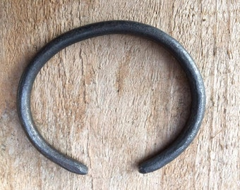Hand forged iron bracelet