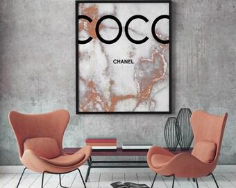 3 Coco Chanel marble print, Coco Chanel Print, Printable Coco Chanel, Coco Chanel Wall Art, Coco Chanel Digital Print, Coco Chanel Poster