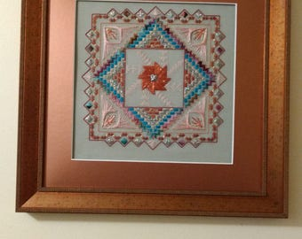 Starburst Fantasy - Canvas - Fiber Art - Framed Art