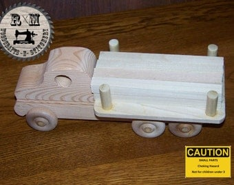 Toy Wood Lumber Truck