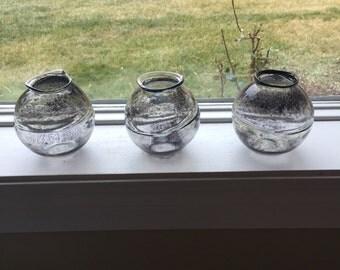 Handblown glass bowls