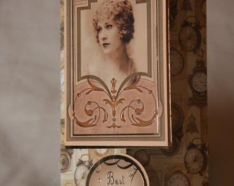 Vintage handmade Card, Blank