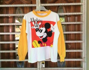 Vintage Mickey Family Mickey Mouse Big Logo Shirt