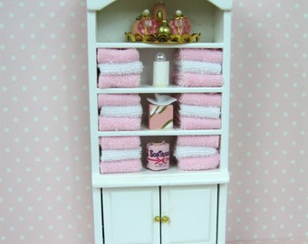 New 1:12 scale dolls house miniature bathroom cabinet