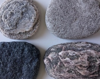 Natural Stones Set of 4 Natural Stones Rock Garden Terrarium Rock Decor Collectible Stones
