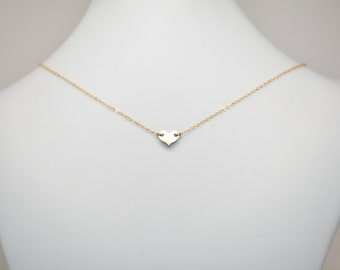 Delicate Heart Choker Necklace