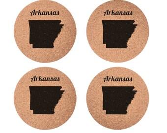 Arkansas Set 4pc Coaster Set Cork Home Bedroom Bar