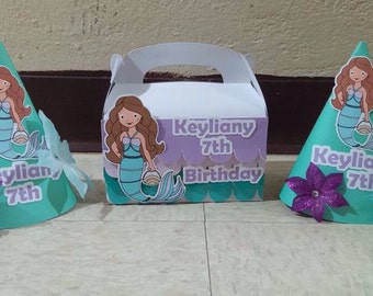 Mermaid treat box, for party favors