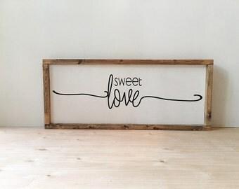 SWEET LOVE handmade wood sign