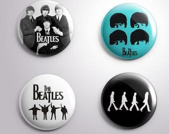 4 THE BEATLES - pins / buttons / magnets - MUSIC - Different options