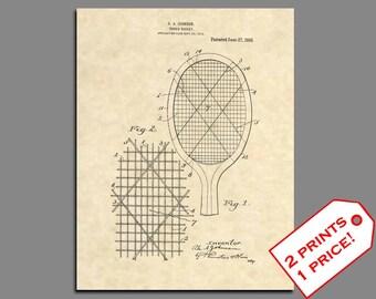 Patent Art - Tennis Racket Patent Prints - Vintage Tennis Wall Art - Tennis Decor Patent Print - Tennis Poster - Tennis Decor Wall Art - 95