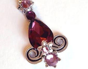 Jam drops Bindi, Tribal fusion belly dance bindi, ATS bindi,rose, lilac silver bindi, crystal bindi, face jewels, jewellery