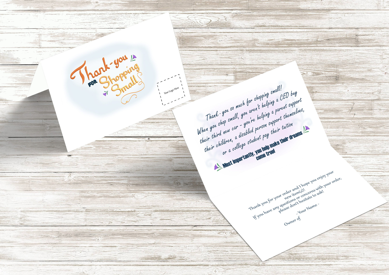 Custom Thank You Card Set, Business Thank You Card Set, Thank You ...