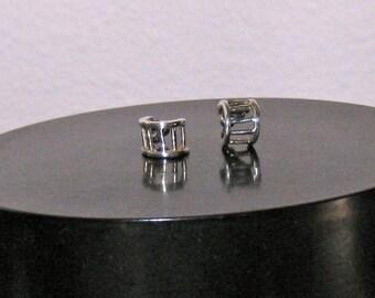 Vintage 80s Delicate Sterling Silver Earrings