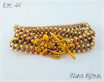 3 laps Bracelet Amethyst/gold