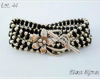 3 laps bracelet black/silver