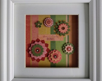There's No Place Like Home White Framed Artwork