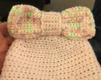 Baby girl beanie with bow!