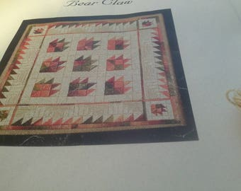 Bear Claw Quilt Look Needlepoint Kit