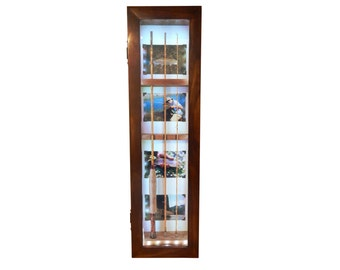 Fly Fishing Rod Display Case-Lighted -Vertical