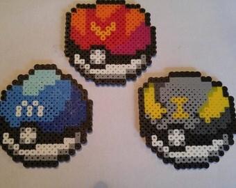 Pokemon Go: Pokeball Perler Beads