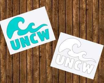 UNCW Wave Decal