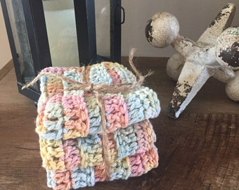Crocheted Set of 3 Dishcloths