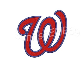 9 Sizes**Washington Nationals Embroidery design- 7 formats machine embroidery design - Instant Download machine embroidery pattern