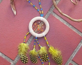 Small but nice, dream catchers, wall decoration, natural stone mix, glass beads