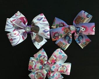 Character pinwheel bows!
