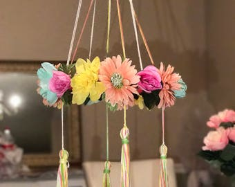 Flowers and Tassels Mobile