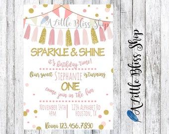 Sparkle and Shine Invitation