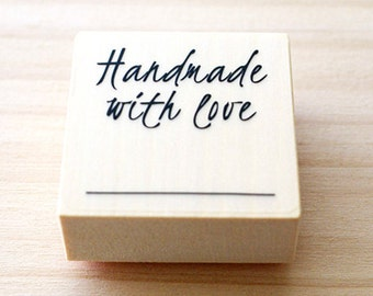 CLEARANCE SALE - Rubber stamp - Handmade with love
