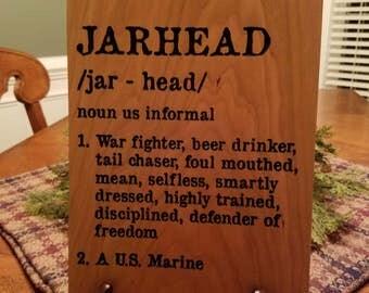 US Marine Corps Jarhead sign