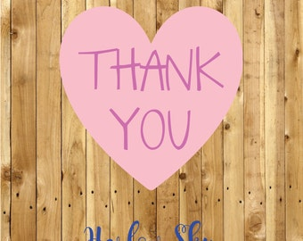 50 x Amazingly Super Thank You Labels/Stickers Great for your packages/school/kids