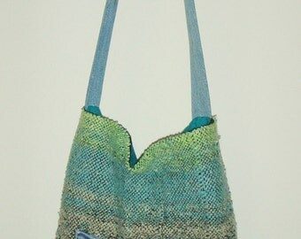 Jeans Pocket Handwoven Purse/Bookbag