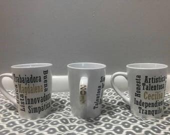 Word Web Mug - Personalized Mug - Description Mug