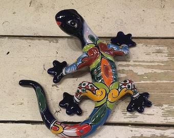 Salamander / Wall Salamander / Talavera Salamander / Handpainted Talavera Lizard / Talavera Lizard / Garden Lizard