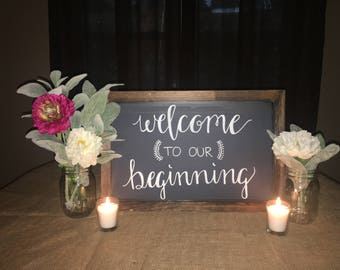 Welcome Chalkboard Sign