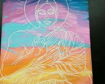 Budha in Pastel