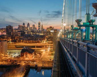Philadelphia from the Ben Franklin at Dusk