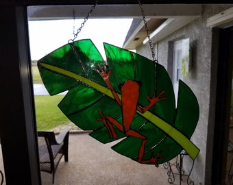 Stained Glass Tree Frog III