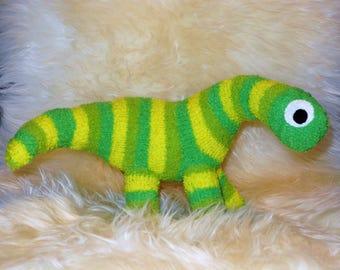 dino dinosaur Stuffed Animal Hand Stitched Sock Critter  stuffy cuddly toy fuzzy stuffie lovies brontosaurus apatosaurus jurassic park