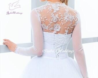 Tulle/lace bridal bolero