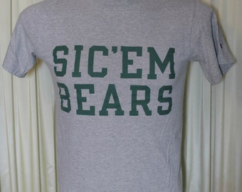 "Vintage 90's Baylor Bears ""Sic'em Bears"" Tee Shirt Made by Champion"