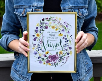 Mother's Day Blessed Flower Wreath