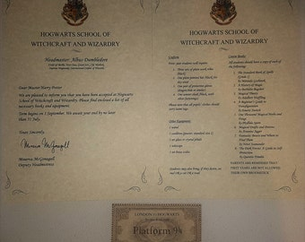Wizarding Acceptance Letter with Explination of Lost letter