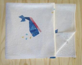 Whale Print Children's Bath Towel - Super Soft