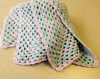 Precious Gem Crocheted Baby Blanket